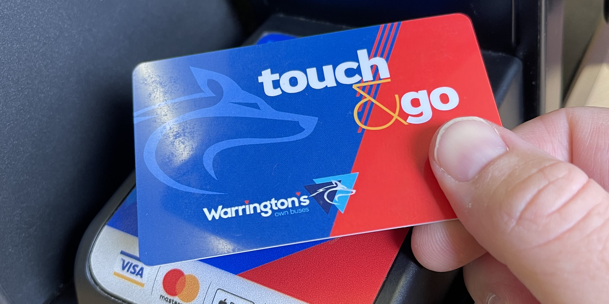 Photograph of a Touch & Go smartcard being used on a bus